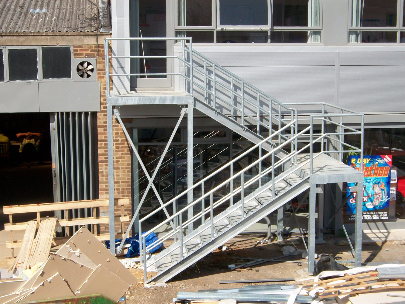 Galvanised Fire Escape Staircase