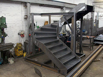 Mild Steel Helix Staircase Designed And Manufactured In House